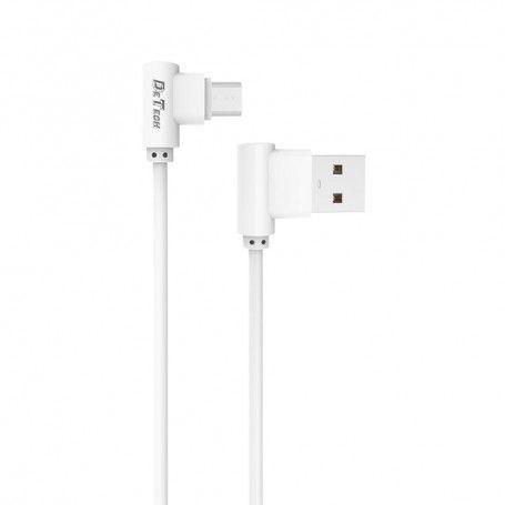 καλώδιο δεδομένων DE-21M, Micro USB, 1.0m, λευκό