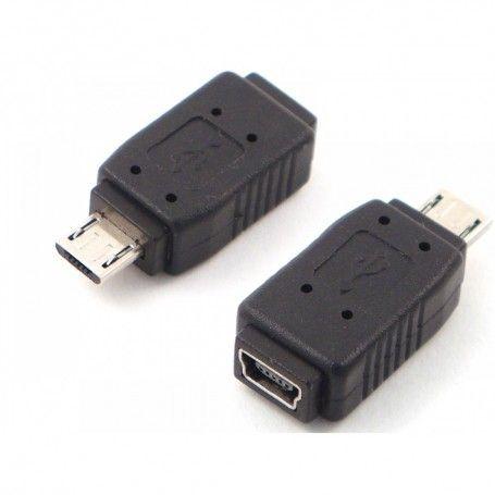 Adapter Micro USB M σε Mini USB F