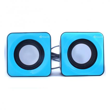 speaker for computer, Kisonli, V310, 2x3W, USB blue