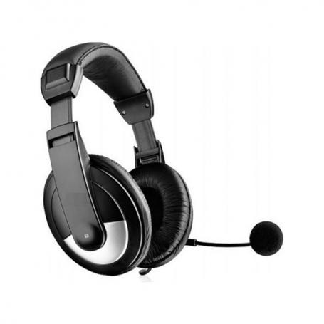 headset, OK-2010, Για PC, with microphone, black