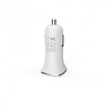 Car socket charger 2.4A/5V, 12/24V, 2 x USB