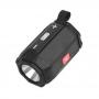 Φορητό Ηχείο LED-904, Bluetooth, Φακός, USB, SD, FM, AUX, black
